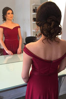 Simple Burgundy Prom Dress, Graduation School Party Gown, Winter Formal Dress, DT0024