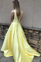 Yellow Prom Dress, Prom Dresses, Evening Gown,Graduation School Party Gown, Winter Formal Dress, DT0025