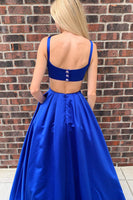 Royal Blue Prom Dress, Prom Dresses, Pageant Dress, Evening Dress, Dance Dresses, Graduation School Party Gown, DT0624