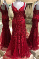 Burgundy Prom Dress Beaded, Prom Dresses, Pageant Dress, Evening Dress, Dance Dresses, Graduation School Party Gown, DT0627