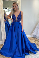 Custom Made Prom Dress Royal Blue, Prom Dresses, Pageant Dress, Evening Dress, Dance Dresses, Graduation School Party Gown, DT0621