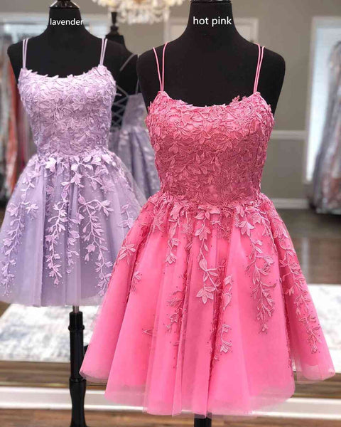 Lace Homecoming Dress, Short Prom Dress ,Dresses For Graduation Party, Evening Dress, Formal Dress, DTH0752