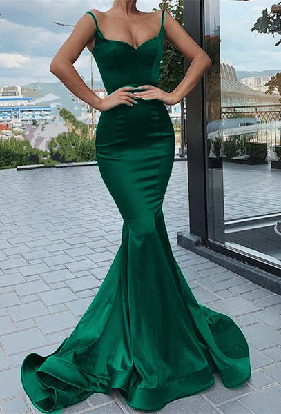 Mermaid Green Prom Dress Long 2021, Formal Dress, Evening Dress, Dance Dresses, Graduation Party Dress, DT0768