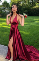 Sexy Prom Dress Slit Skirt, Evening Dress, Dance Dresses, Graduation School Party Gown, DT0325