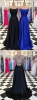 Black And Royal Blue Prom Dress, Prom Dresses, Evening Gown, Graduation School Party Dress, Winter Formal Dress, DT0104