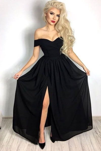 Black Prom Dress, Dresses For Graduation Party, Evening Wear, Formal Dress, DT0510