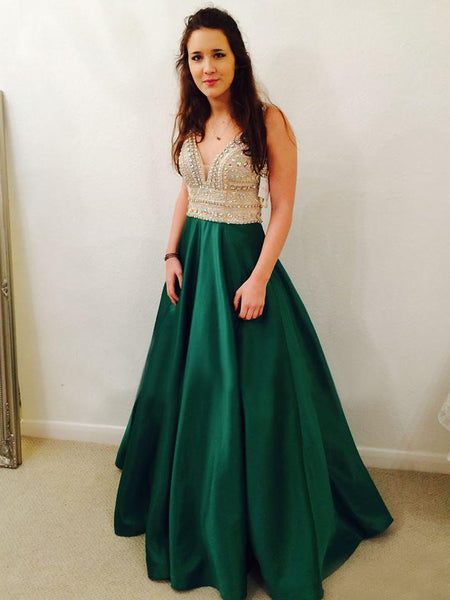 Green Prom Dress, Prom Dresses, Evening Gown, Graduation School Party Dress, Winter Formal Dress, DT0091
