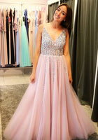 Prom Dress V Neckline, Prom Dresses, Evening Gown, Graduation School Party Dress, Winter Formal Dress, DT0093
