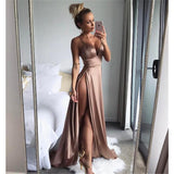 Sexy Prom Dress with High Slit, Ball Gown, Dresses For Party, Evening Dress, Formal Dress, DT0433