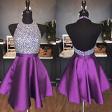 Purple Homecoming Dress 2019, Short Prom Dress ,Dresses For Graduation Party, Evening Dress, Formal Dress, DTH015