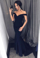 Mermaid Navy Prom Dress For Teens, Prom Dresses, Graduation School Party Gown, DT0215