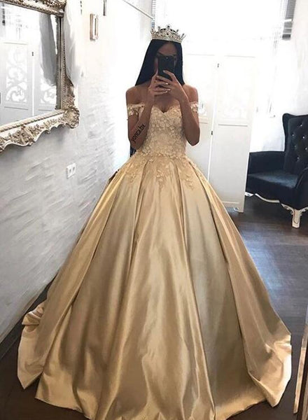 Champagne Gold Prom Dress, Homecoming Dress, Formal Dress, Evening Dress, Dance Dresses, Graduation Party Dress, DT0747