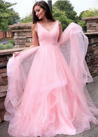 Pink Prom Dresses, Formal Dress, Evening Dress, Dance Dresses, Graduation School Party Gown, DT0720