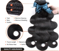 Brazilian Hair Body Wave 3 Bundles With Closure Human Hair Bundles With Closure Lace Closure Remy Human Hair Extension
