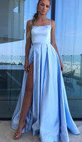 Sexy Prom Dress Slit Skirt, Formal Dress, Evening Dress, Dance Dresses, Graduation Party Dress, DT0760