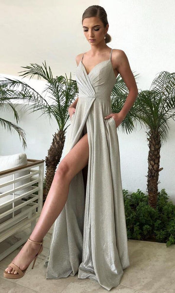 Sexy Prom Dress 2021 Slit Skirt, Formal Dress, Evening Dress, Dance Dresses, Graduation Party Dress, DT0761
