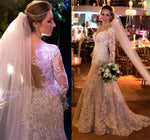 Lace Wedding Dress Long Sleeves, Bridal Gown ,Dresses For Brides, DT0352