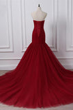Burgundy Prom Dress, Evening Dress, Formal Dresses, Graduation School Party Dance Dress, DT0390
