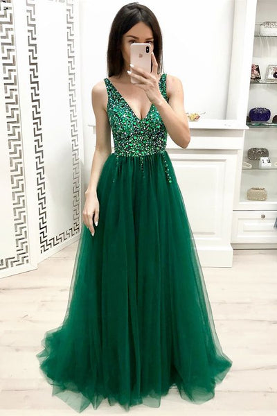 Green Prom Dress Long, Dresses For Graduation Party, Evening Dress, Formal Dress, DT0471
