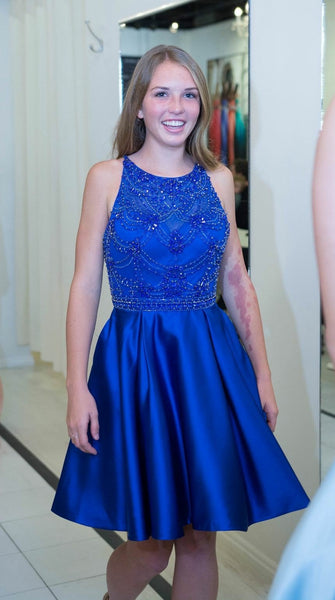 Royal Blue Short Prom Dress, Homecoming Dress, Dresses For Graduation Party, Evening Dress, Formal Dress, DT0494