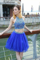 Two Pieces Royal Blue Short Prom Dress, Homecoming Dress, Dresses For Graduation Party, Evening Dress, Formal Dress, DT0492