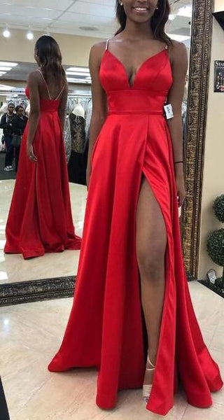 Sexy Prom Dress with Slit, Pageant Dress, Evening Dress, Dance Dresses, Graduation School Party Gown, DT0588