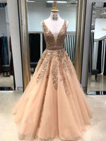 A Line Prom Dress Long, Ball Gown, Dresses For Party, Evening Dress, Formal Dress, DT0434