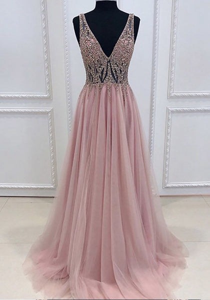 Long Prom Dress Sheer Top, Prom Dresses For Teens, Dresses For Party, Formal Dress, DT0419