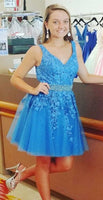 Lace Homecoming Dress, Short Prom Dress ,Dresses For Graduation Party, Evening Dress, Formal Dress, DTH0757