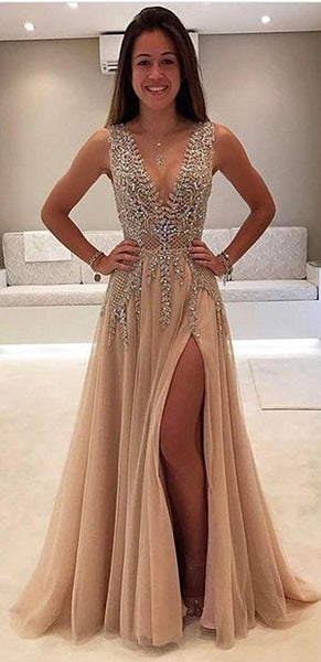 592ddee5f100 Sexy Prom Dress Slit Skirt
