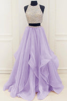 Two Pieces Prom Dress, Pageant Dress, Evening Dress, Dance Dresses, Graduation School Party Gown, DT0527