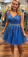 Royal Blue Homecoming Dress, Short Prom Dress ,Dresses For Graduation Party, Evening Dress, Formal Dress, DTH0027