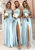 New Style Bridesmaid Dresses Slit Skirt, Bridesmaid Dress For Wedding BM0017