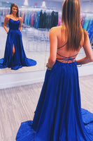 Sexy Royal Blue Prom Dress Long, Ball Gown, Dresses For Party, Evening Dress, Formal Dress, DT0449