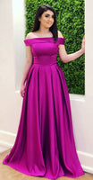 Long Prom Dress Off The Shoulder Straps, Ball Gown, Dresses For Party, Evening Dress, Formal Dress, DT0460