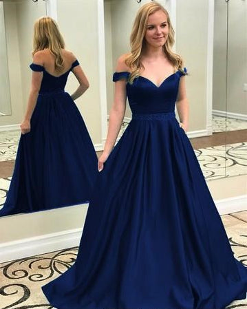 Prom Dress Off the Shoulder Strap, Prom Dresses, Evening Gown,Graduation School Party Gown, Winter Formal Dress, DT0038