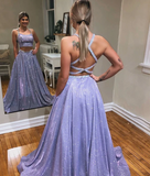 Sparkly Two Pieces Prom Dresses, Formal Dress, Evening Dress, Dance Dresses, Graduation School Party Gown, DT0715