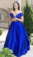 Royal Blue Prom Dress, Ball Gown, Dresses For Party, Evening Dress, Formal Dress, DT0457
