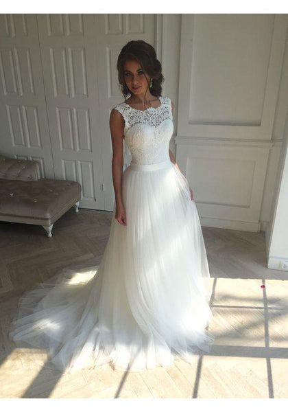 Simple Wedding Dress, Bridal Gown ,Dresses For Brides, PM0025