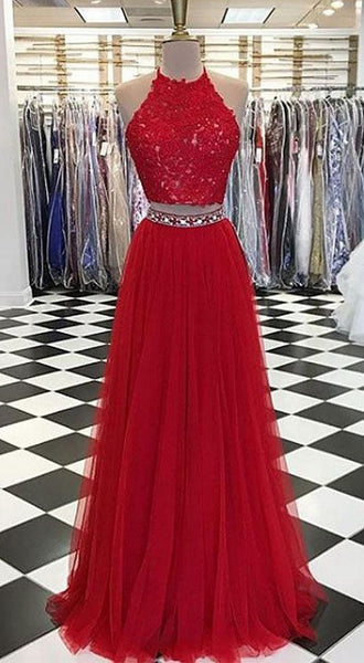 Two Pieces Prom Dresses Long, Homecoming Dress, Formal Dress, Evening Dress, Dance Dresses, Graduation Party Dress, DT0755