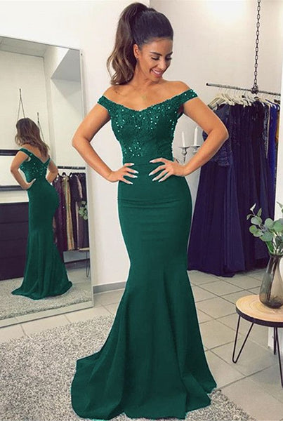 156d89b34af Green Mermaid Prom Dress For Teens