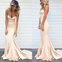 Champagne Mermaid Prom Dress, Prom Dresses, Evening Gown, Graduation School Party Dress, Winter Formal Dress, DT0064