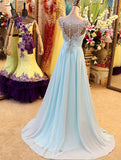 Chiffon Prom Dress, Prom Dresses, Evening Gown, Graduation School Party Dress, Winter Formal Dress, DT0116