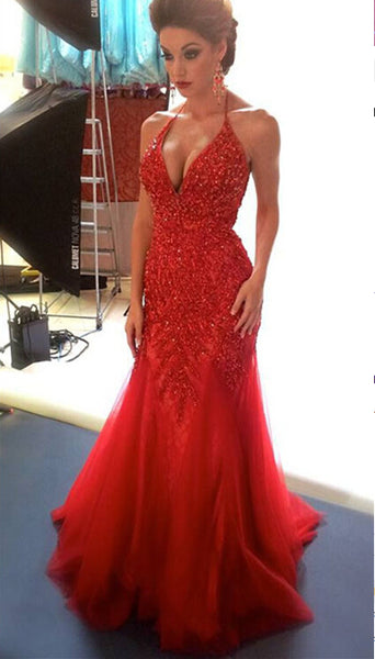 Red Prom Dress, Prom Dresses, Evening Gown, Graduation School Party Dress, Winter Formal Dress, DT0123