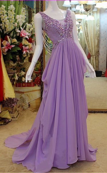 Chiffon Prom Dress, Prom Dresses, Evening Gown, Graduation School Party Dress, Winter Formal Dress, DT0124