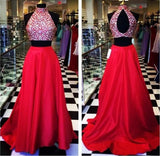 Two Pieces Prom Dress, Evening Gown, Graduation School Party Dress, Winter Formal Dress, DT0131