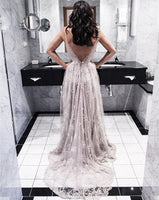 Backless Prom Dress Deep V Neckline, Evening Gown, Graduation School Party Dress, Winter Formal Dress, DT0136