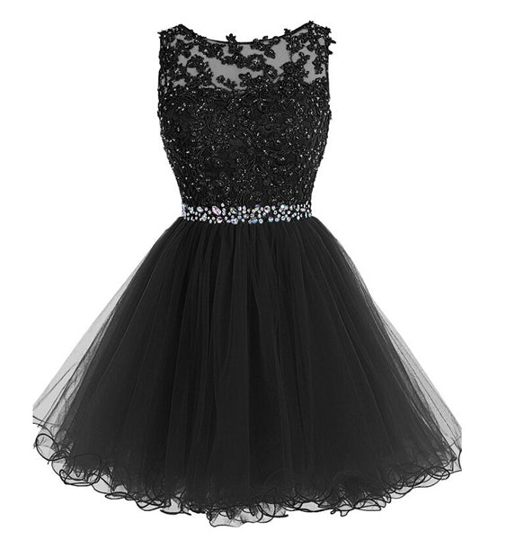 Black Homecoming Dress, Short Prom Dress ,Back To School Party Dress, Evening Dress, Formal Dress, DTH0035