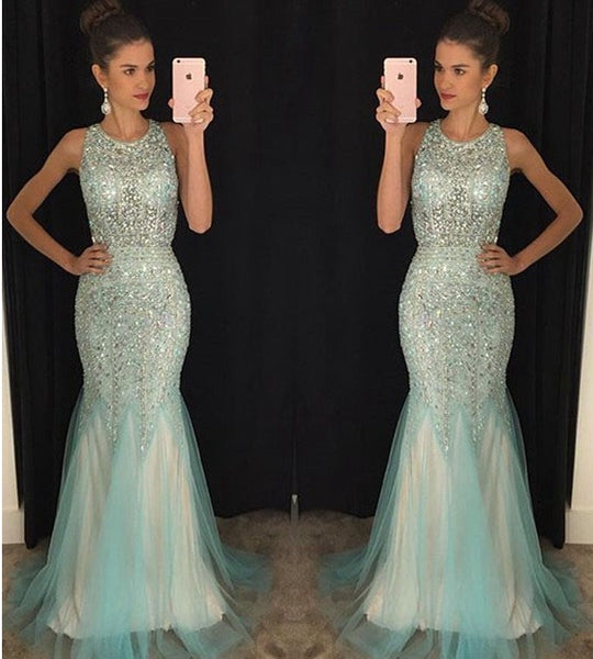 Prom Dress For Teens Full of Stones, Prom Dresses, Evening Gown, Graduation School Party Gown, Winter Formal Dress, DT0189