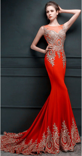 Red Mermaid Prom Dress For Teens, Prom Dresses, Evening Gown, Graduation School Party Gown, Winter Formal Dress, DT0191
